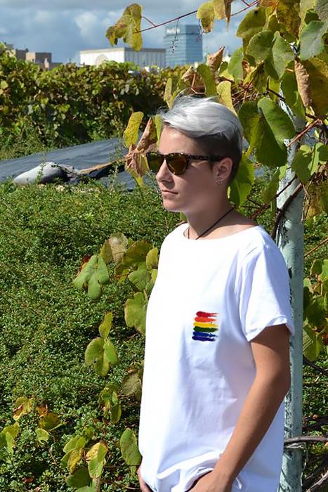 tęczowy t-shirt