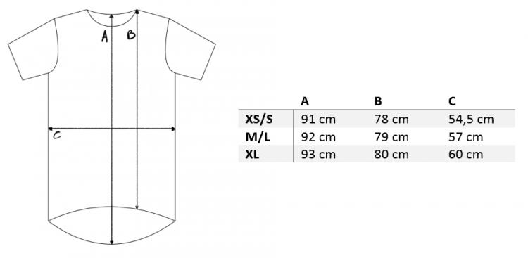 rozmiarówki koszulka oversize