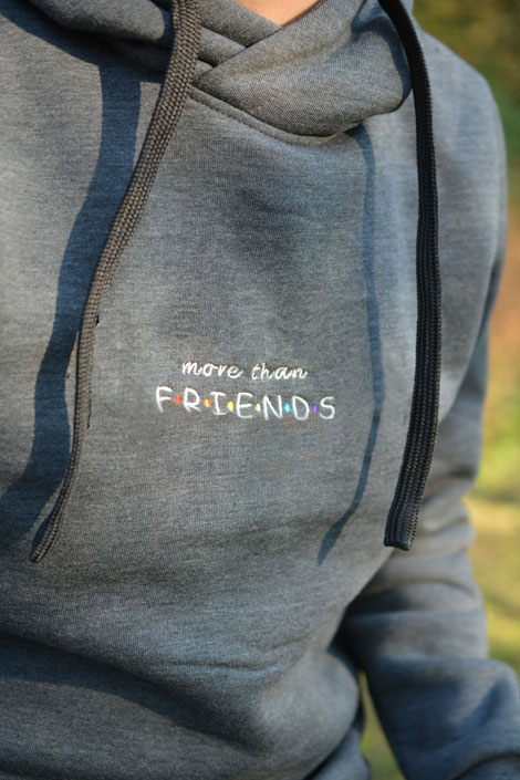 bluza z kapturem friends