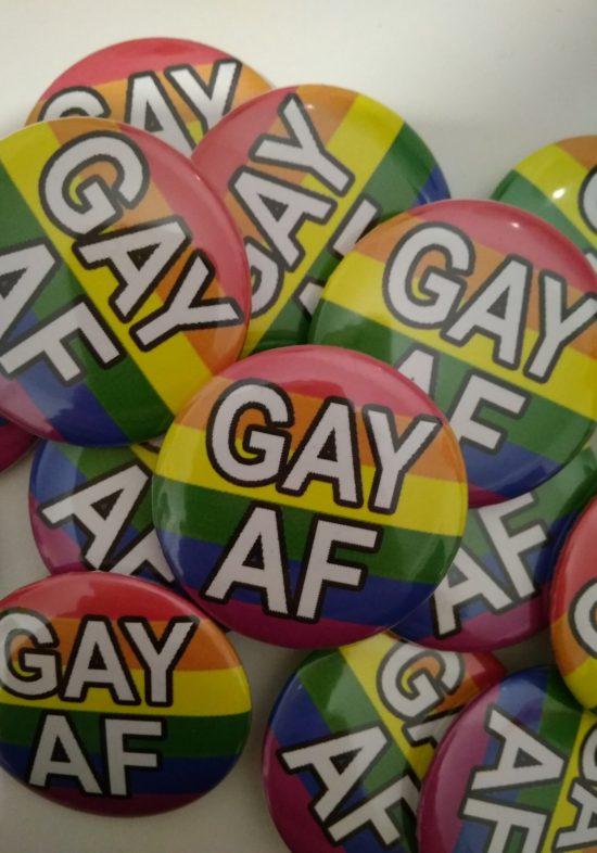 gay as fuck przypinka