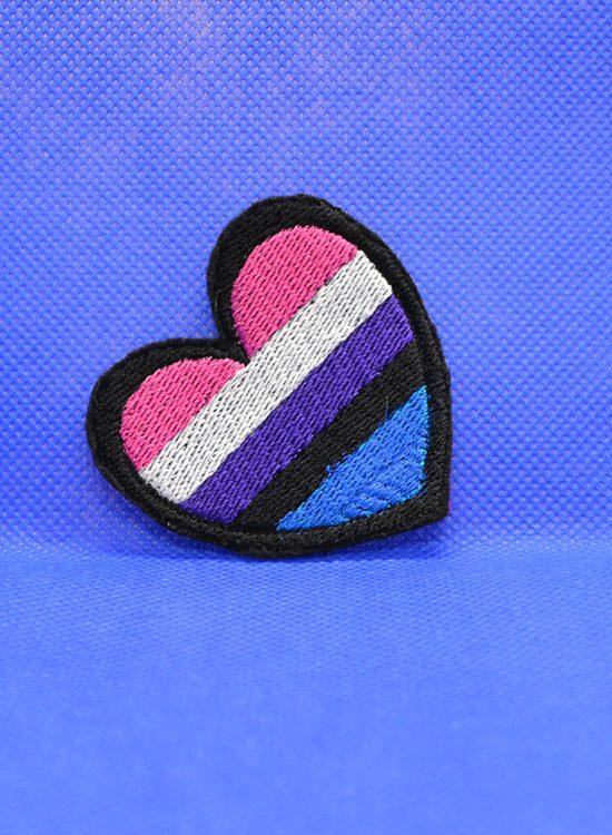 naszywka genderfluid flag